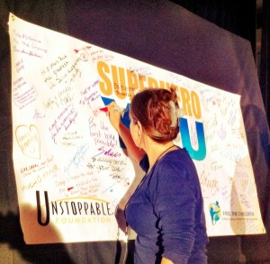 Donations to the Unstoppable Foundation at SuperheroYou 2012