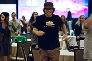 Kevin Pearce dancing at SuperheroYou 2012